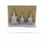 Felicitare 3D Origami Three trees(gold/silver)