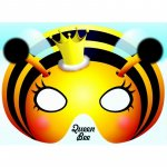 Felicitare cu masca Regina albinelor