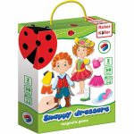 Joc educativ magnetic Snappy dressers Roter Kafer