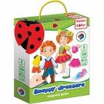 Joc educativ magnetic Snappy dressers Roter Kafer