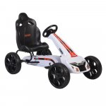 Kart cu pedale si roti din cauciuc EVA Olympus White
