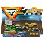 Set 2 masinute Monster Jam Max D si Grave Digger color change