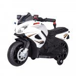 Motocicleta electrica cu scaun din piele Nichiduta Police 911 White