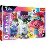 Puzzle Trefl Maxi DreamWorks Trolls Lumea muzicala a trolilor 24 piese