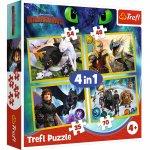 Puzzle Trefl 4 in 1 Cum sa iti dresezi dragonul 3