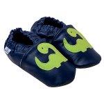 Pantofiori din piele Happy Dino S 12,5 cm