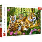 Puzzle Trefl Familie de tigri 500 piese