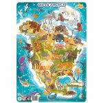 Puzzle cu rama America de Nord 53 piese
