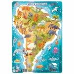 Puzzle cu rama America de Sud 53 piese