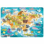 Puzzle cu rama Eurasia 53 piese