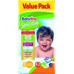 Scutece Babylino Sensitive Valuepack N5+ 13-27 kg 42 buc