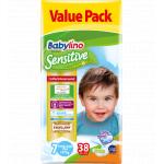 Scutece Babylino Sensitive Valuepack N7 17+ kg 38 buc