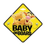 Semn de avertizare Baby on Board Winnie the Pooh Seven SV9625