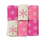 Set 6 museline din flanel Joy roz
