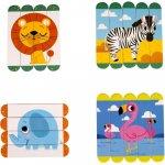 Set puzzle-uri din betisoare lemn animale salbatice Fiesta Crafts