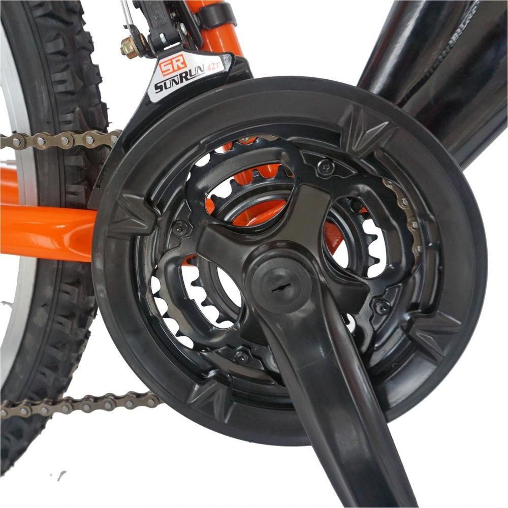 Bicicleta MTB-FS 24 Rich Alpin R2449A 18 viteze culoare negruportocaliu