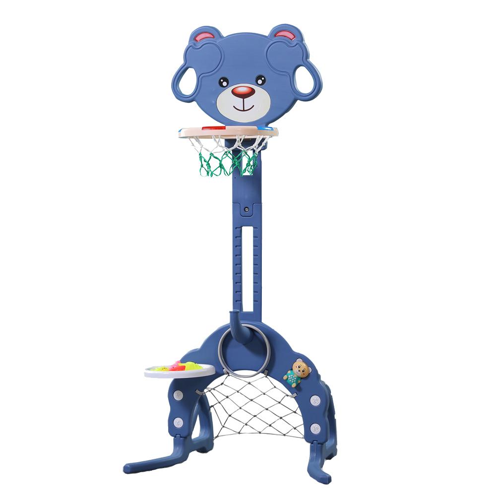 Cos de baschet multifunctional 3 in 1 Bear Blue