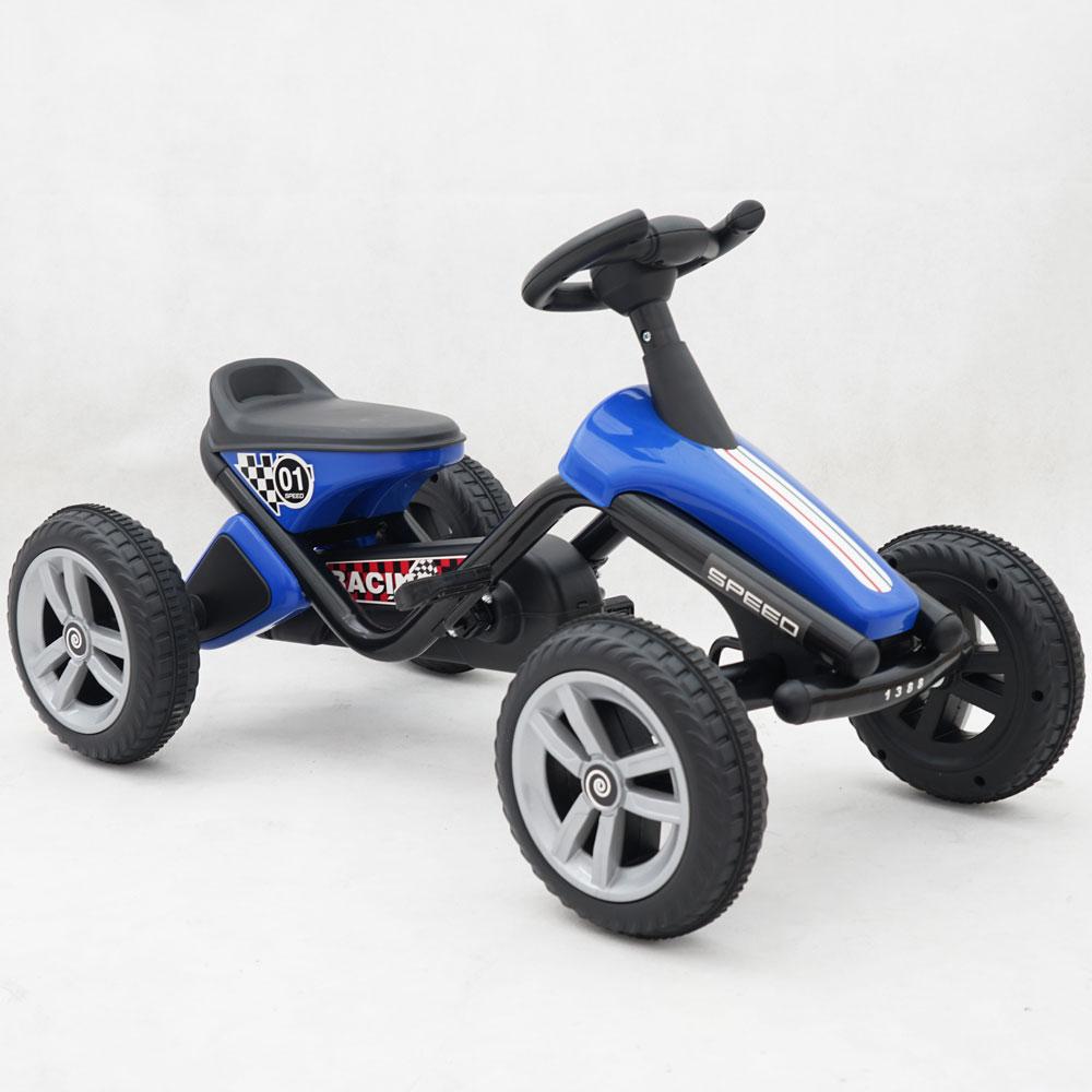 Kart cu pedale pentru copii 1388A albastru imagine