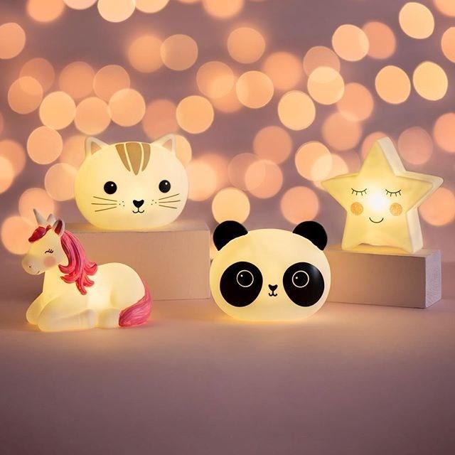 Lampa de veghe Led cu baterii Rainbow Unicorn imagine