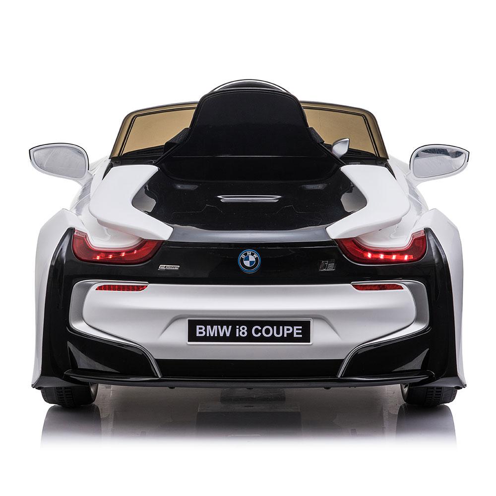 Masinuta electrica cu roti EVA si deschidere usi BMW I8 Coupe Alb
