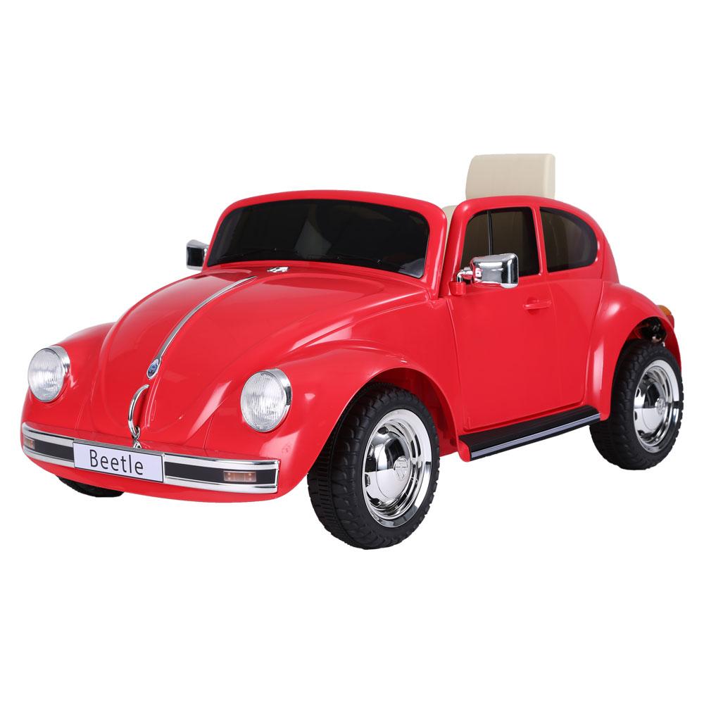 Masinuta electrica cu roti EVA Volkswagen Beetle rosu - 2