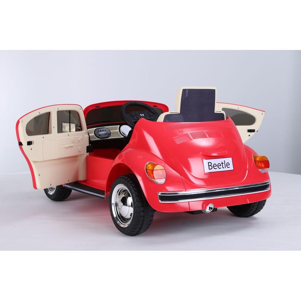Masinuta electrica cu roti EVA Volkswagen Beetle rosu - 1