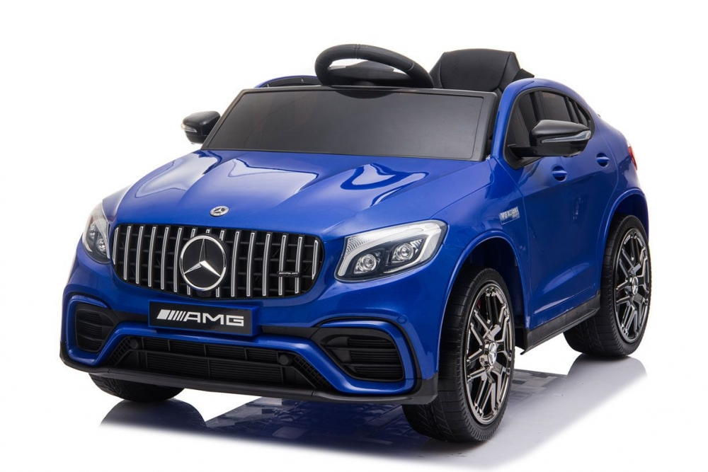 Masinuta electrica cu suspensii si roti EVA Mercedes-Benz AMG GLC Coupe Blue