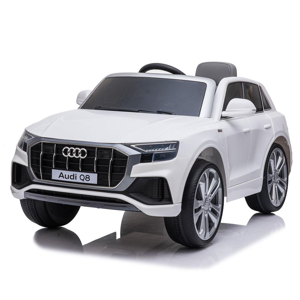 Masinuta electrica roti EVA 12V Audi Q8 alb - 1
