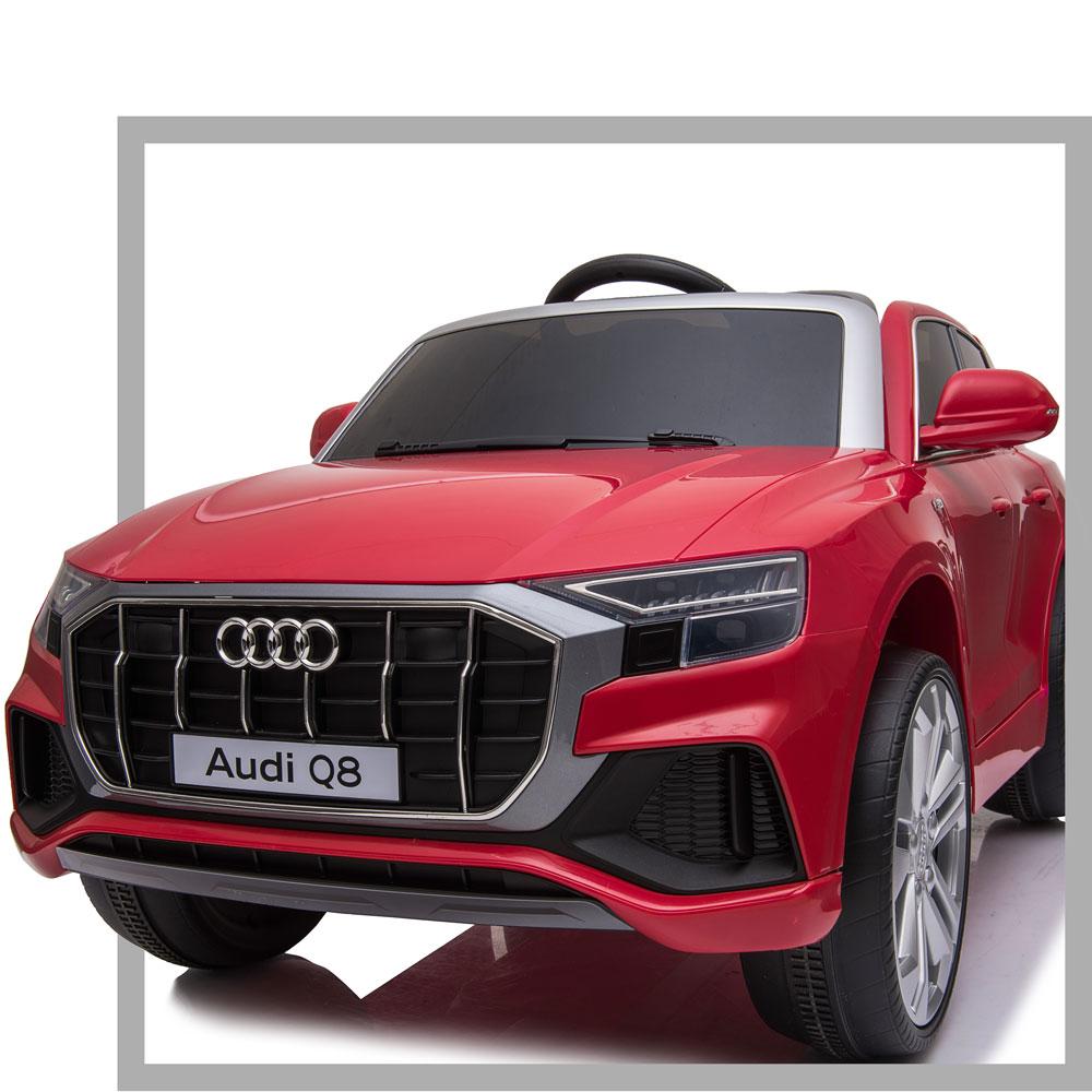 Masinuta electrica roti EVA 12V Audi Q8 rosu