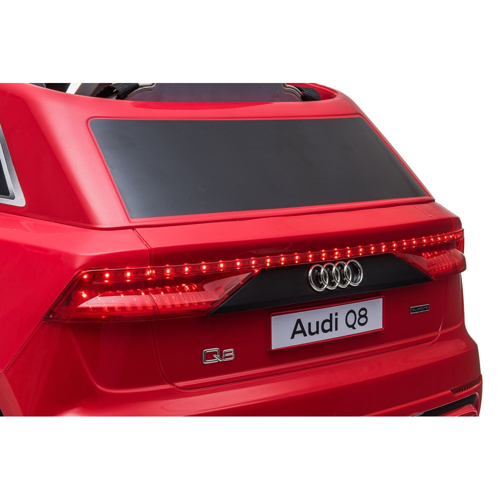 Masinuta electrica roti EVA 12V Audi Q8 rosu - 1