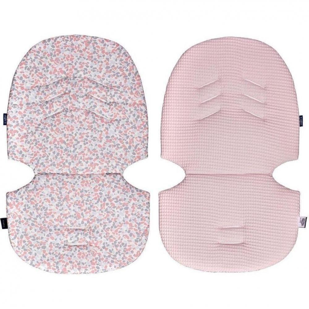 Perna pentru carucior N3 Bumbac Waffle Womar Zaffiro Pink Stones
