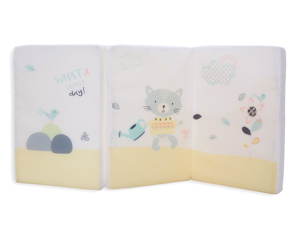Saltea pliabila cu husa din bumbac 120x60x5 cm Cat Lovely Day imagine