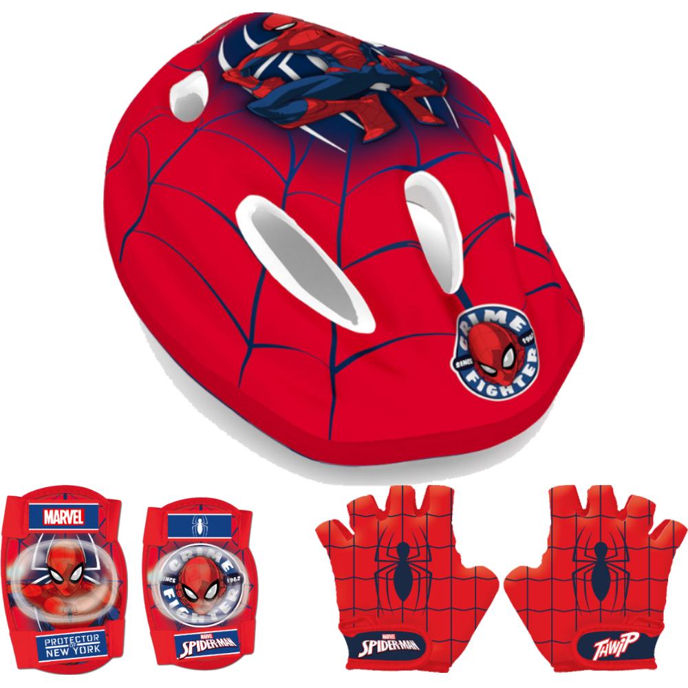 Seven Set casca protectie cotiere genunchiere si manusi Spiderman Seven