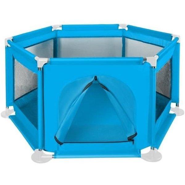 Tarc de joaca copii textil 125x65 cm Iso Trade albastru imagine