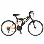 Bicicleta MTB-FS 24 Rich Alpin R2449A 18 viteze culoare negru/portocaliu