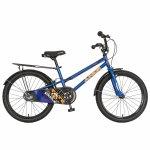 Bicicleta copii 20 Junior J2001B cadru otel si portbagaj culoare albastru / negru 7-10 ani