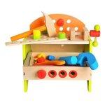 Jucarie din lemn 2 in 1 banc de lucru si cutie cu scule cu accesorii incluse Kruzzel