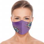 Masca textila reutilizabila cu buzunar Purple Mandala
