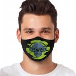 Masca textila reutilizabila cu buzunar Skull With Headphones