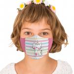 Masca textila reutilizabila cu buzunar Believe In Magic copii