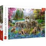 Puzzle Trefl Familie de lupi 1000 piese