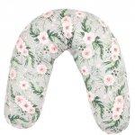 Perna pentru gravide si alaptat Comfort 170 cm cu poliester Womar Zaffiro Flowers
