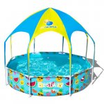 Piscina Steel Pro cu Acoperis UV Careful 40+ UPF