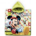 Poncho cu gluga Mickey 55x110 cm Star