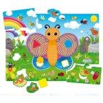 Puzzle de podea Fluturas cu forme si culori