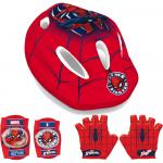 Set casca, protectie cotiere genunchiere si manusi Spiderman Seven