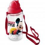 Sticla pentru copii Mickey cu pai 450 ml Star
