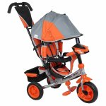 Tricicleta multifunctionala cu sunete si lumini Lux Trike grey-orange