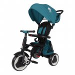 Tricicleta pliabila pentru copii Qplay Rito+ Turcoaz