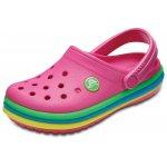 Slapi Crocband Rainbow Band Clog K Paradise Pink 29 (183 mm - C12)